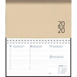 Diary Novoplan 2020 Comb bound Beige