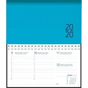 Diary Novoplan 2020 Comb bound Blue