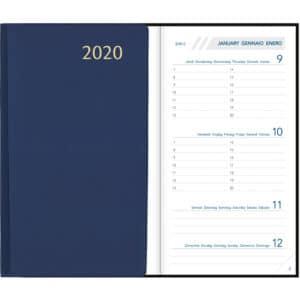 Diary Visuplan 2020 Blue