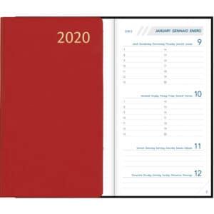 Diary Visuplan 2020 Burgundy