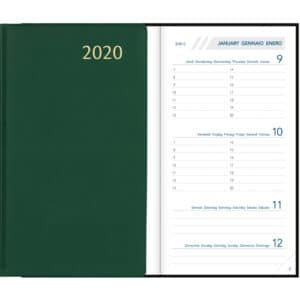 Diary Visuplan 2020 Green