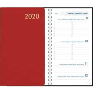 Diary Visuplan 2020 Comb Bound Burgundy