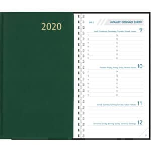 Diary Visuplan 2020 Comb Bound Green