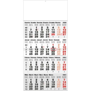 shipping calendar 4 months classic grey 2021
