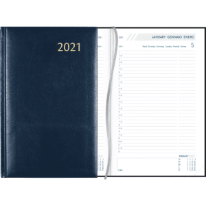 Diary Daily blue 2021