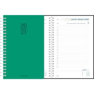 Diary Daily 2021 Green