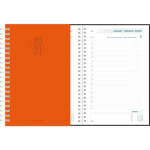 Diary Daily 2021 Orange