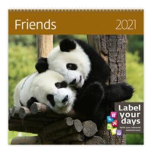 Wall calendar 30x30 Friends 2021