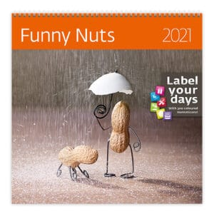 Wall calendar 30x30 Funny Nuts 2021