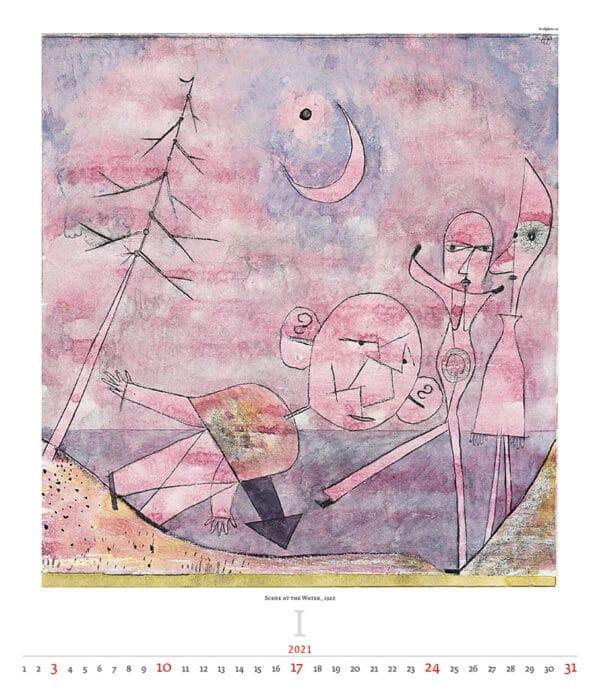 Wall Calendar Art Paul Klee 2021 January