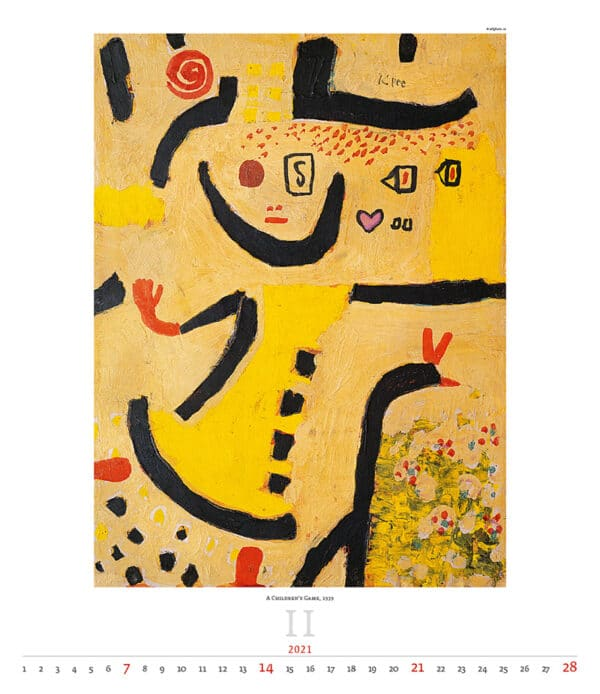 Wall Calendar Art Paul Klee 2021 February