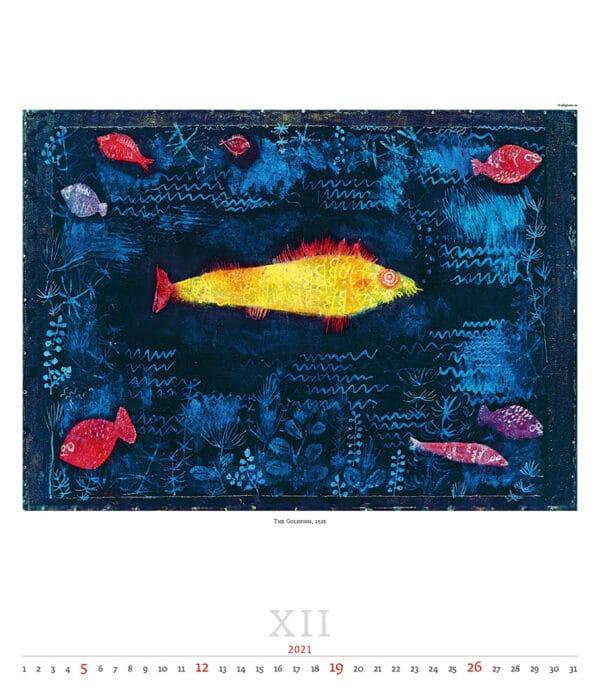 Wall Calendar Art Paul Klee 2021 December