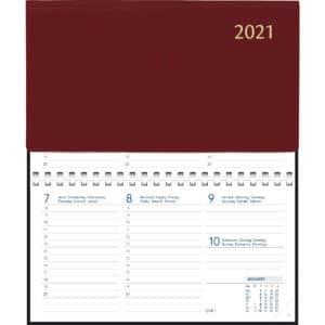 Diary Novoplan comb bound 2021 burgundy