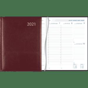 Diary Plan-a-week 2021 burgundy