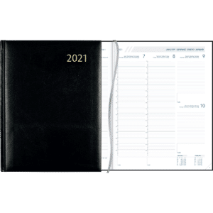 Diary Plan-a-week 2021 black