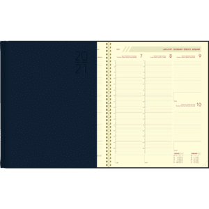 Diary Plan-a-week comb bound blue 2021