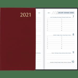 Diary Visuplan 2021 Burgundy
