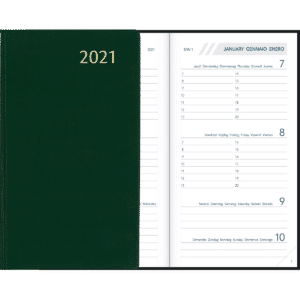 Diary Visuplan 2021 Green