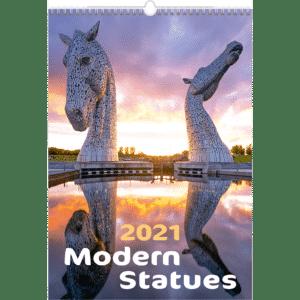 Wall calendar Modern Statues 2021