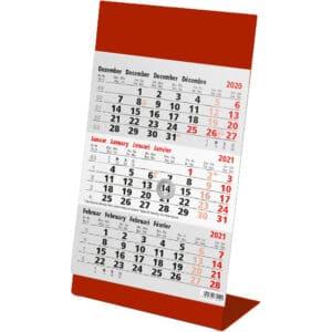 Desk calendar Color red 2021