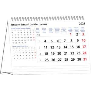 Desk calendar International 2021