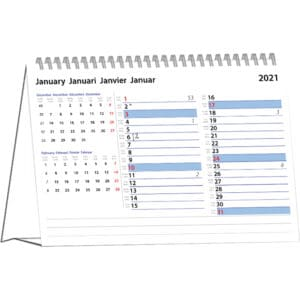 Desk calendar International Memo 2021