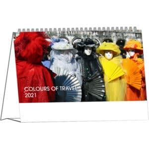 Desk calendar Colours of Travel 2021