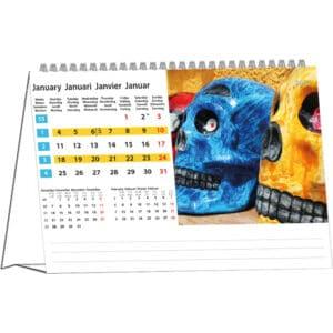 Desk calendar Colours of Travel 2021 January