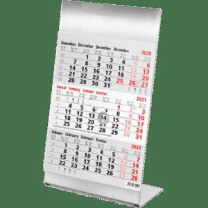 Desk calendar 3 months stainless steel 2021
