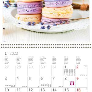 Wall calendar Provence 2022 January