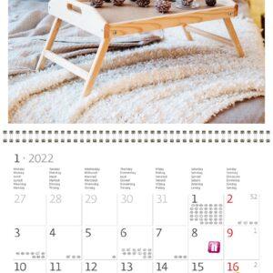 Wall calendar Hygge 2022 January