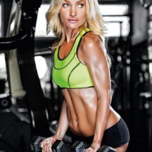Calendar Fitness Girls 2022 January