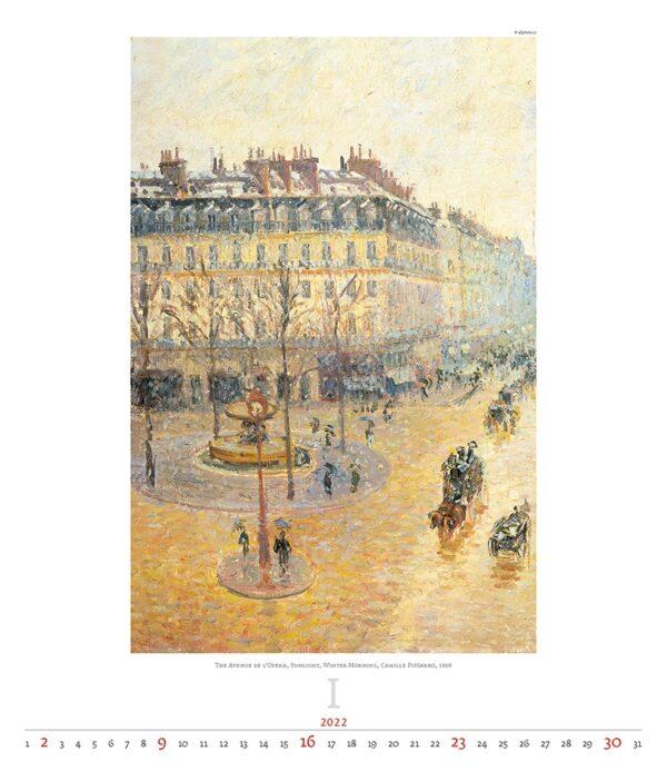 Art calendar Impressionism 2022 January