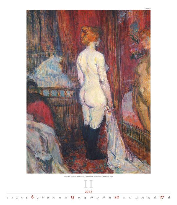 Art calendar Impressionism 2022 February