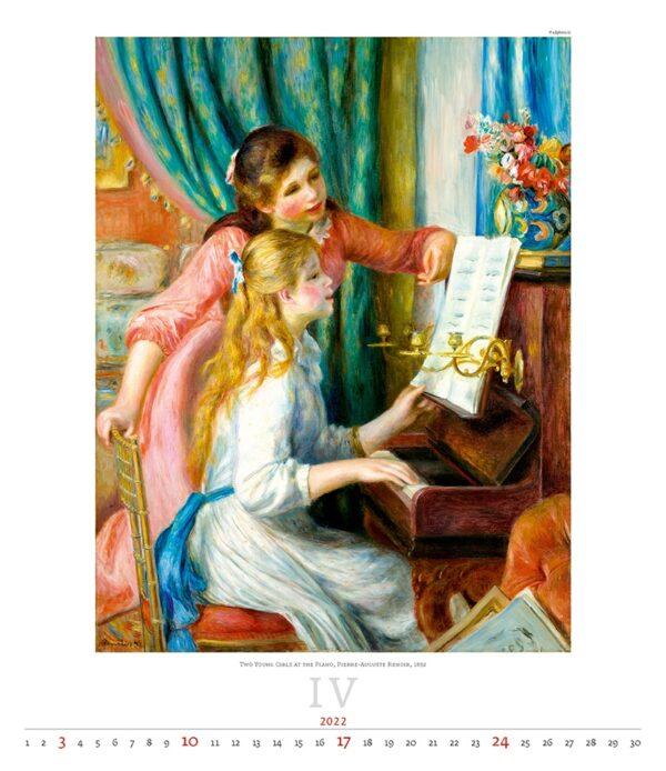 Art calendar Impressionism 2022 April