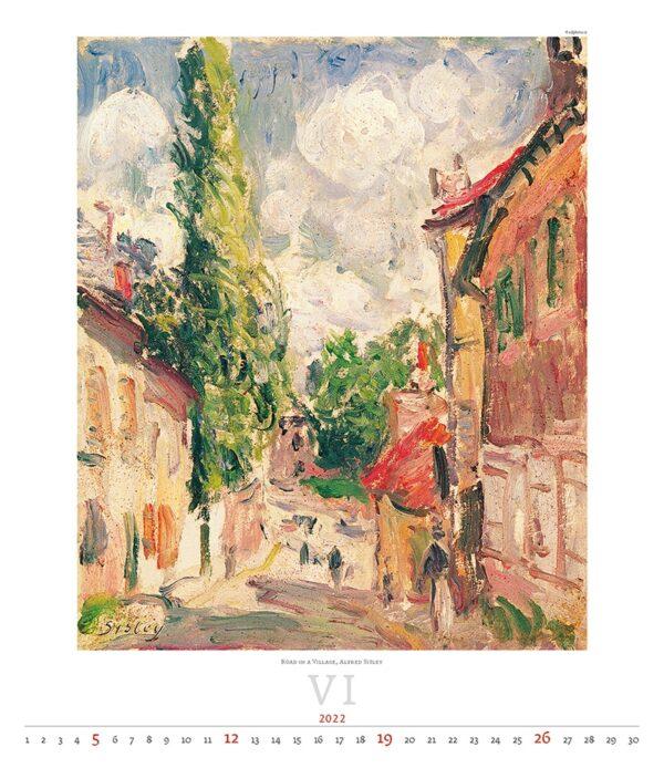 Art calendar Impressionism 2022 June