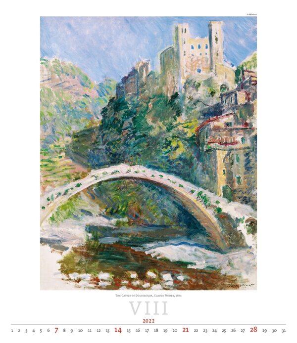 Art calendar Impressionism 2022 August