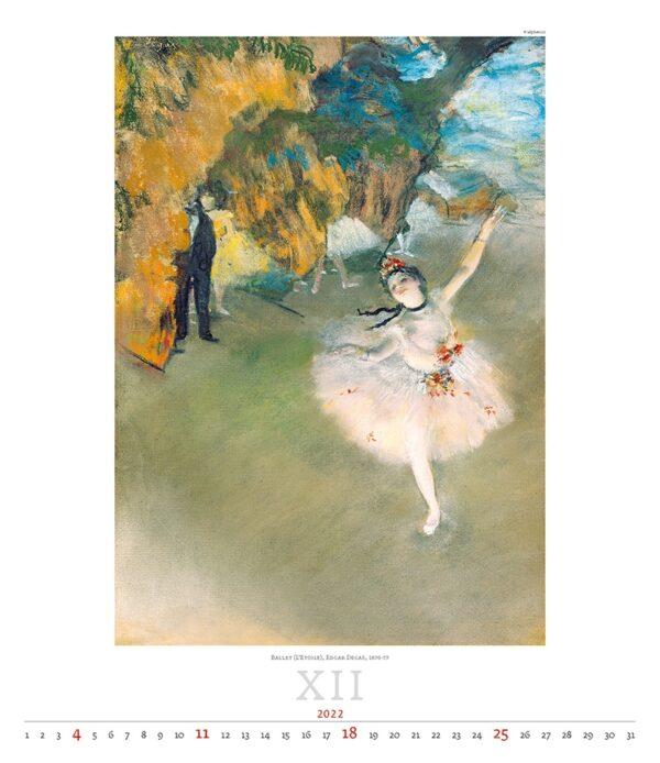 Art calendar Impressionism 2022 December