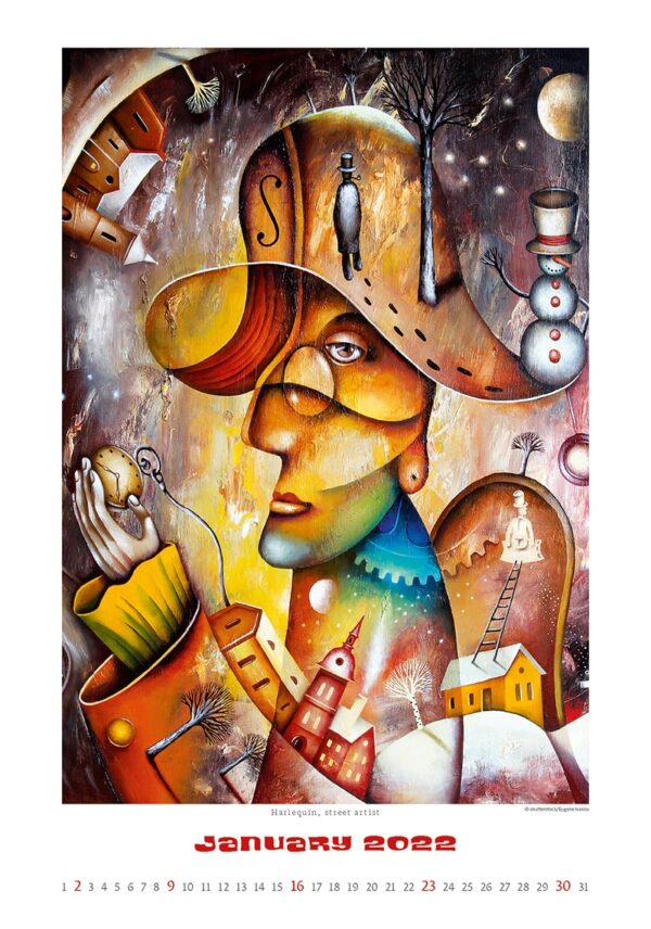 Art calendar Art Naive 2022 January