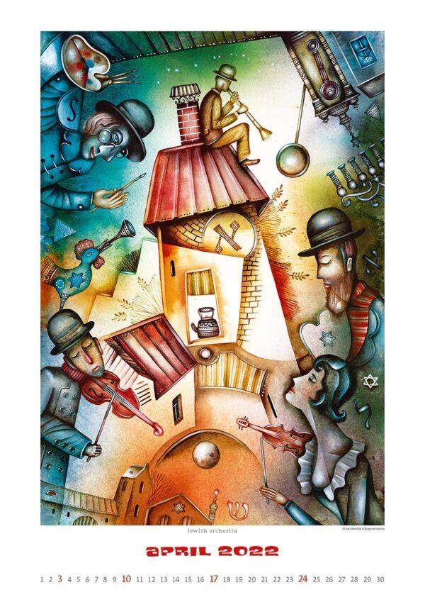 Art calendar Art Naive 2022 April