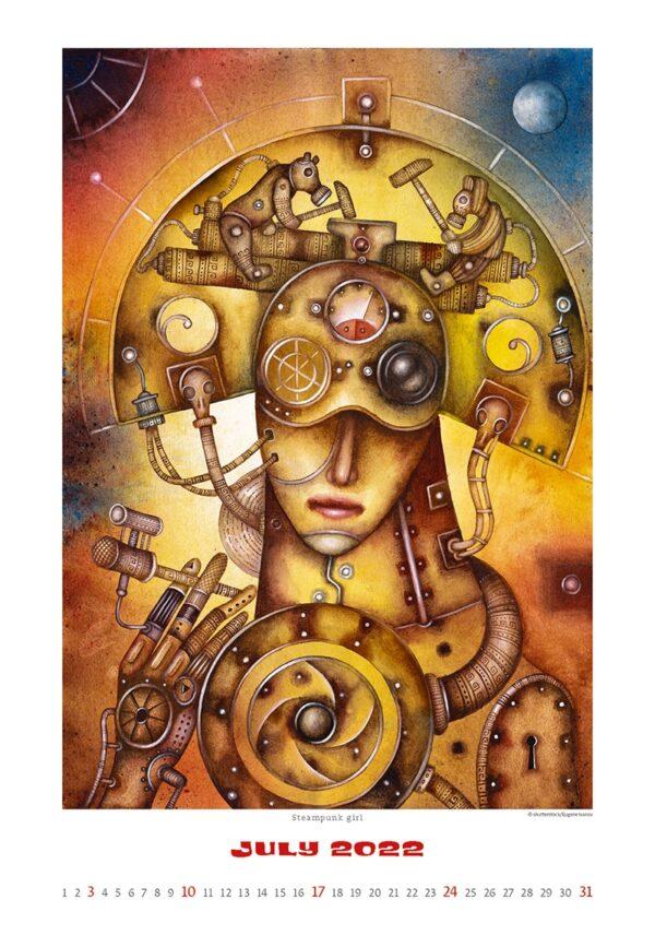 Art calendar Art Naive 2022 July