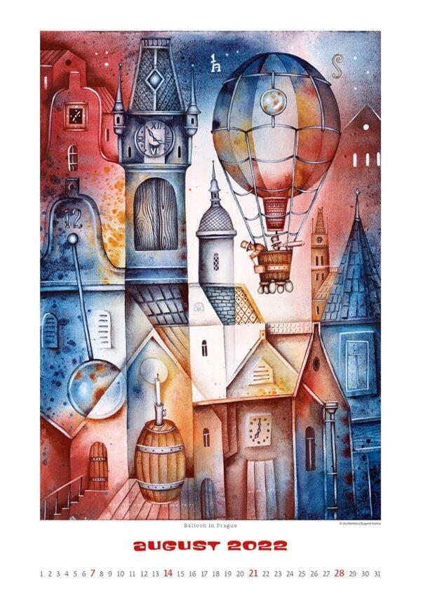 Art calendar Art Naive 2022 August