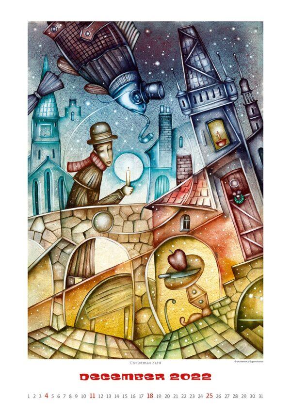 Art calendar Art Naive 2022 December