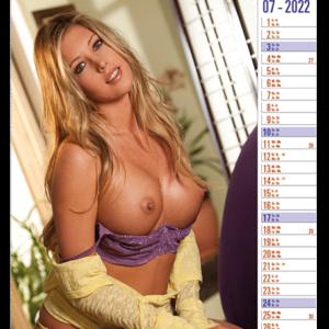 Calendar pinup Top Exclusive 2022 July