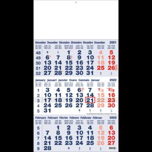 Shipping calendar 3 months 2022 Classic blue