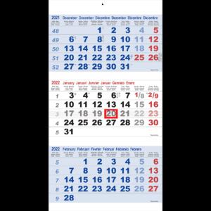 Shipping calendar 3 months Maxi 2022 blue