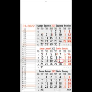 Shipping calendar 3 months 2022 Memo grey