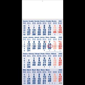 Shipping calendar 4 months 2022 Classic blue