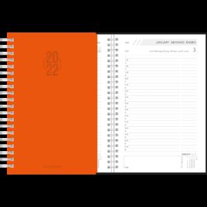 Diary Daily wire-o Orange 2022