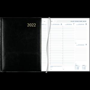 Diary Plan-a-week 2022 black